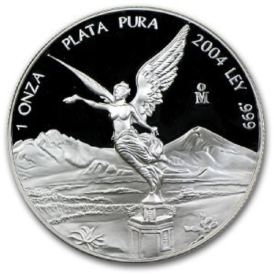 Mexico 1 ounce silver Libertad Proof 2004