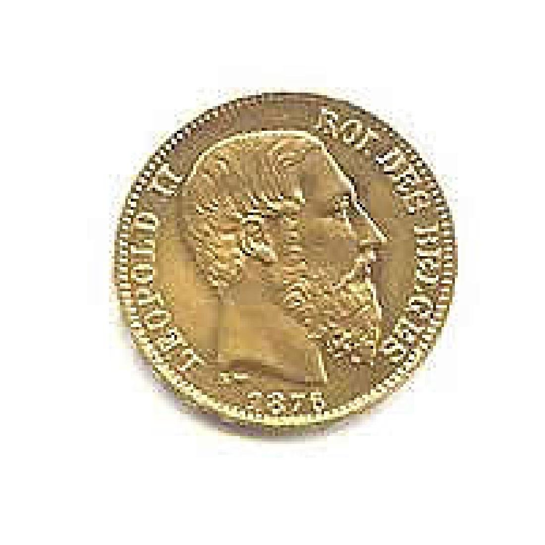 Belgium 20 franc Leopold II Gold Coin