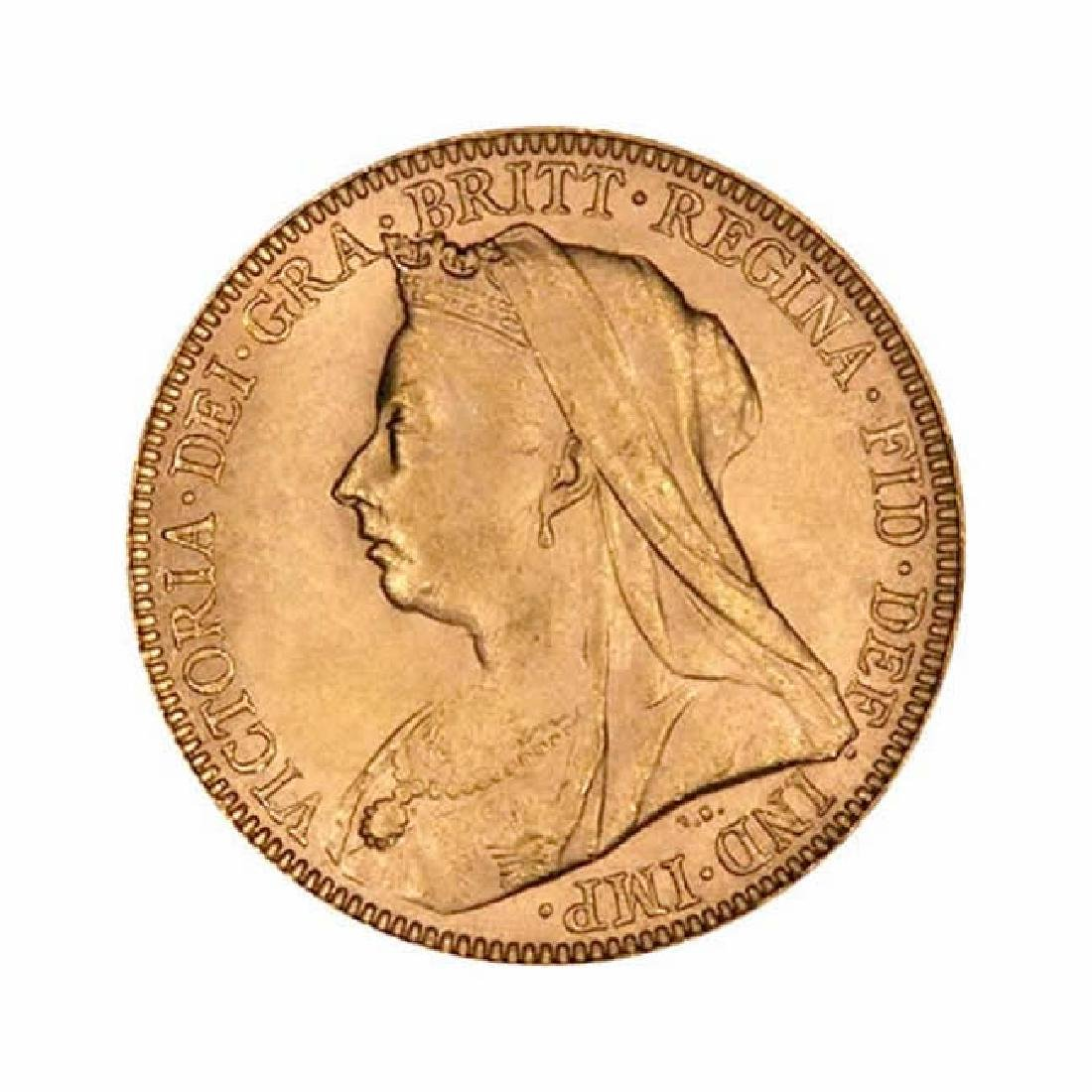 Great Britain Gold Sovereign 1893-1901 Victoria Old Hea