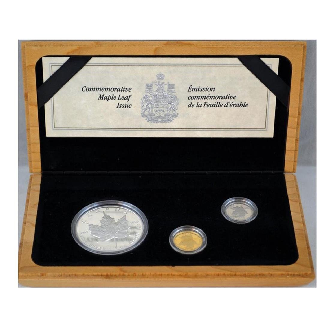 Canada 1989 Commemorative Maple Leaf Proof Set Silver G