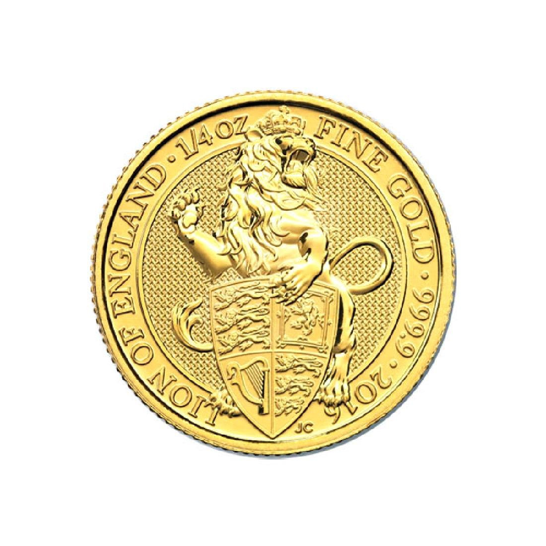 The Queens Beasts 1/4 oz. Gold Bullion 2016 Lion