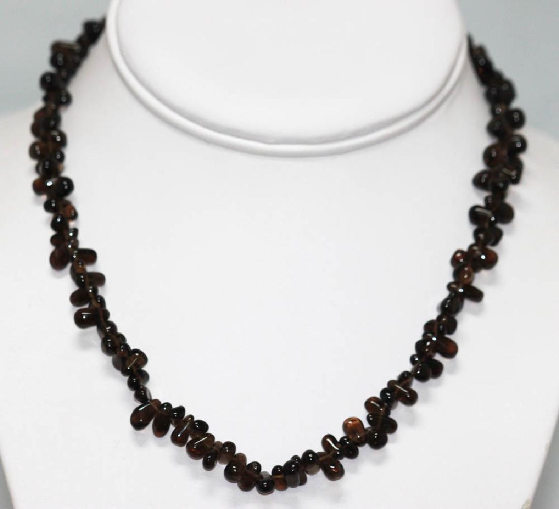 95.01 CTW Natural Garnet Beaded Necklace