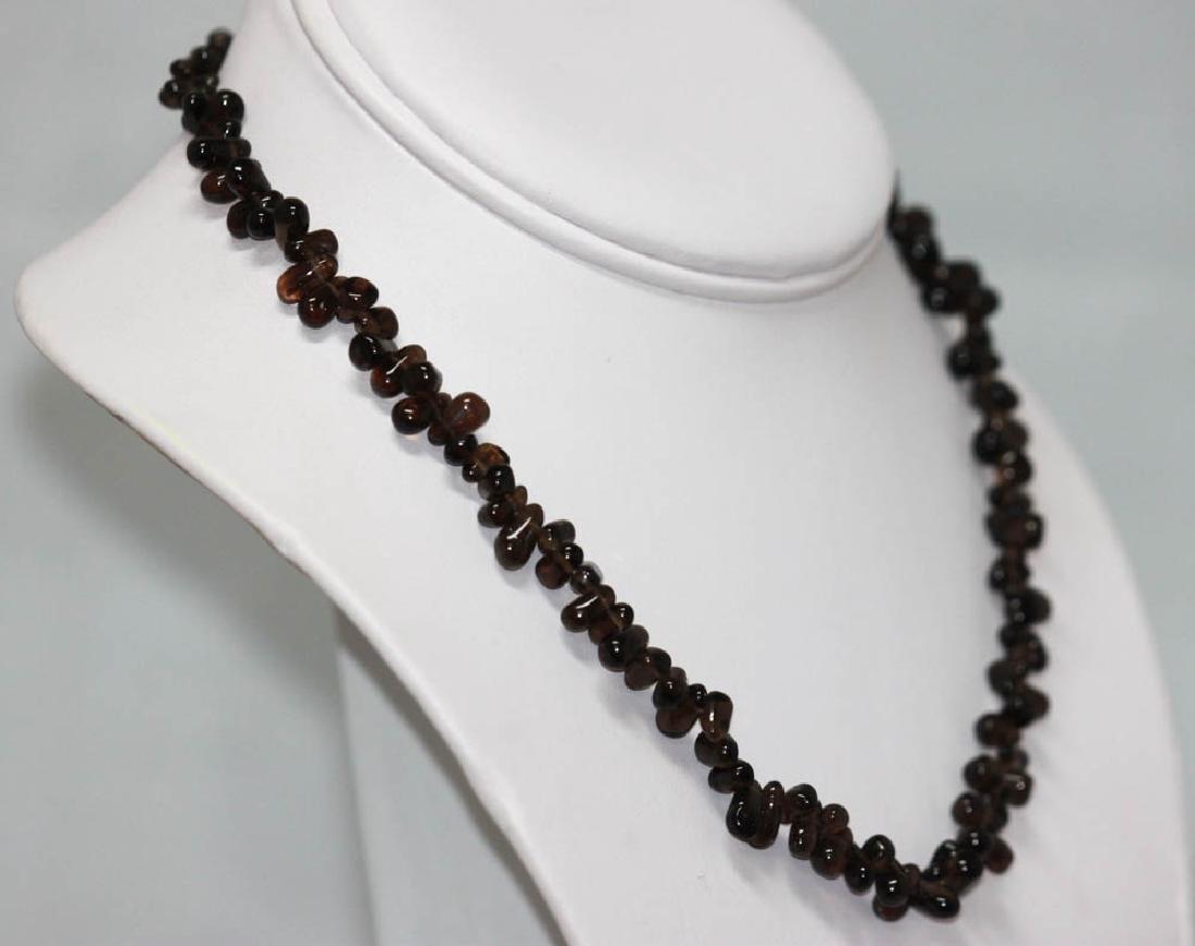 95.01 CTW Natural Garnet Beaded Necklace - 2
