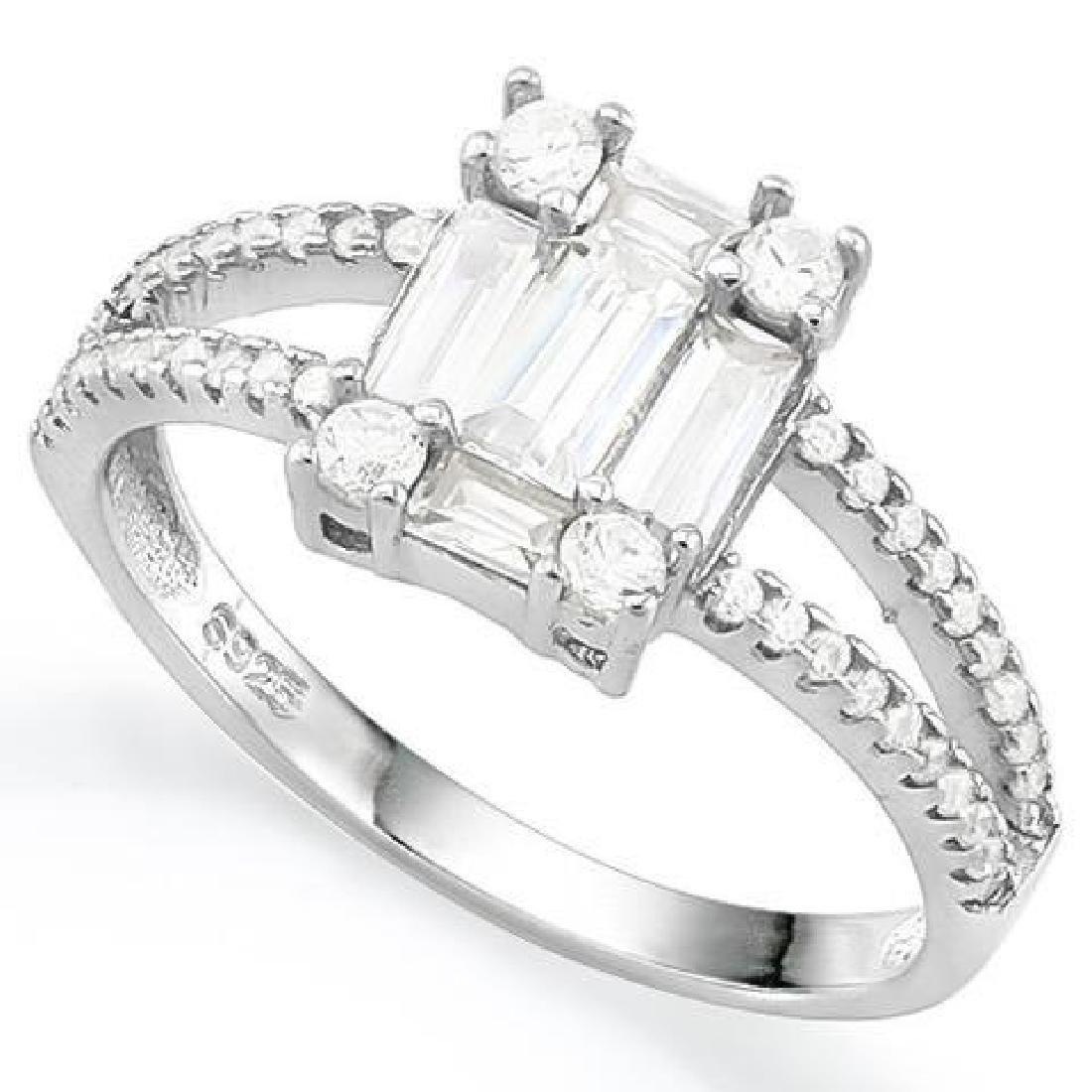 1 3/4 CARAT (49 PCS) FLAWLESS CREATED DIAMOND 925 STERL