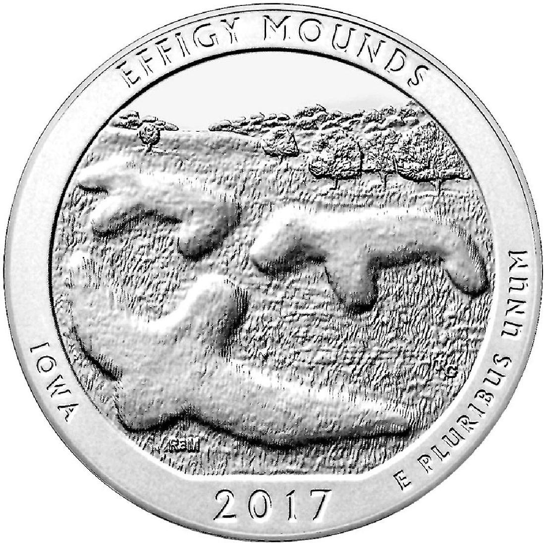 2017 Silver 5oz. Effigy Mounds National Monument ATB