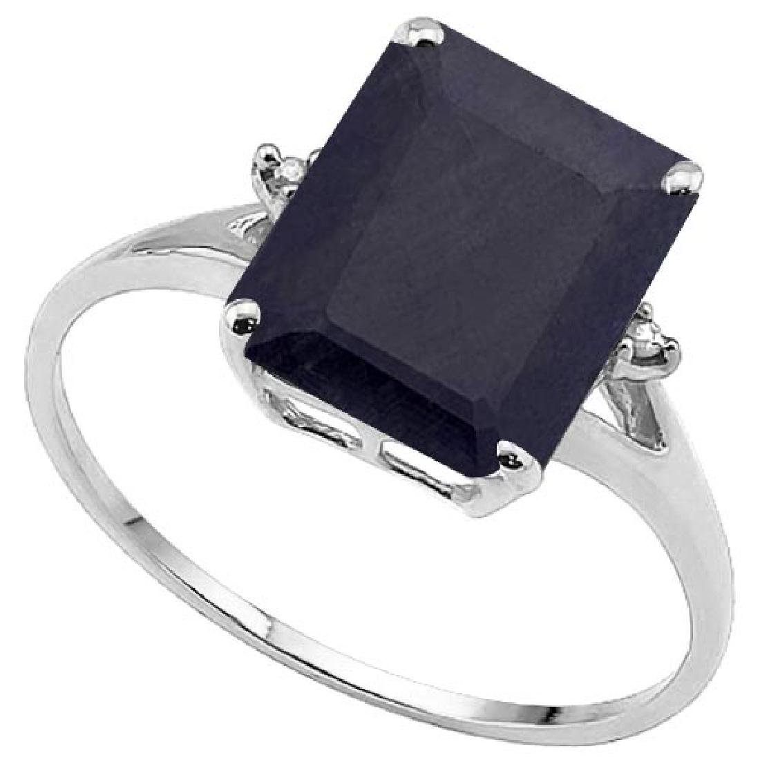 4.3 CTW GENUINE BLACK SAPPHIRE & GENUINE DIAMOND (2 PCS