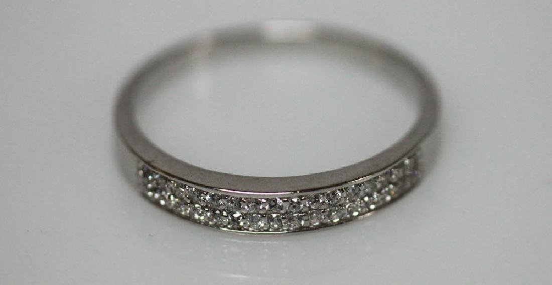 .925 STERLING SILVER WHITE CZ BAND RING - 2