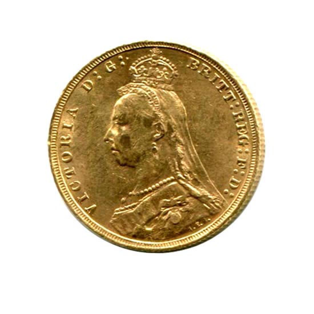 Great Britain Gold Sovereign 1887-1892 Victoria Jubilee