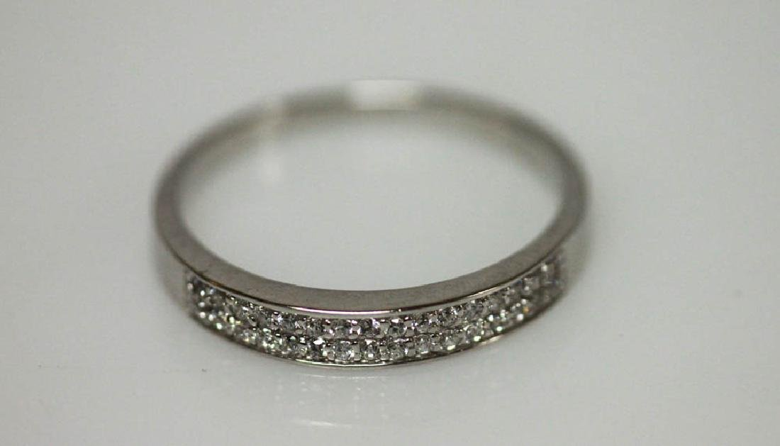 .925 STERLING SILVER WHITE CZ BAND RING
