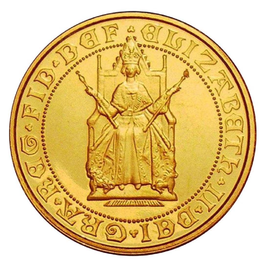 Great Britain Gold Half Sovereign 1989 PF 500th Anniver