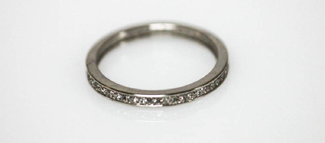 .925 STERLING SILVER BAND W/ CLEAR CZ - 2