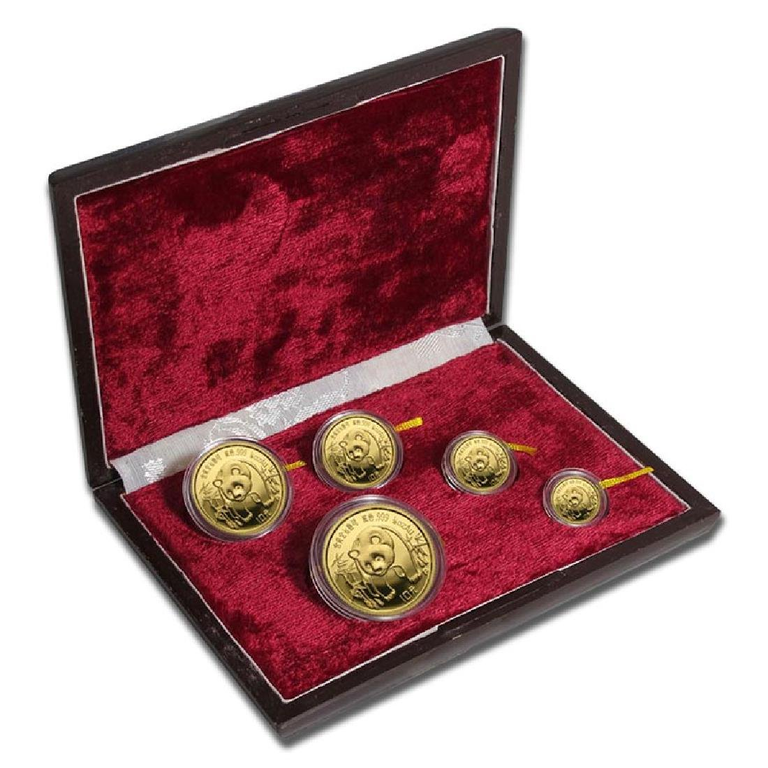 Chinese Gold Panda 5 Coin Proof Set 1986