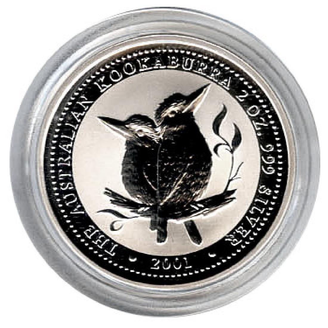 Australian Kookaburra 2 oz. Silver 2001