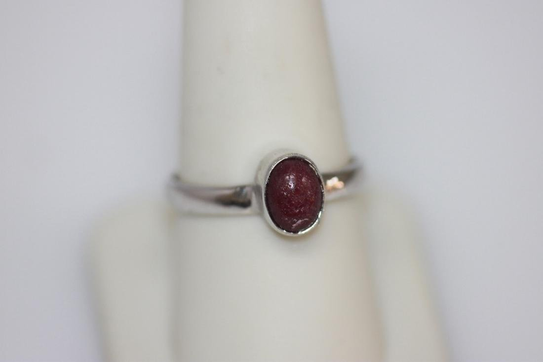 1.75 CTW RUBY RING .925 STERLING SILVER