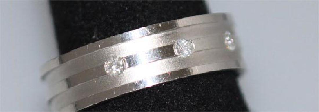 0.15 CTW DIAMOND RING .925 STERLING SILVER