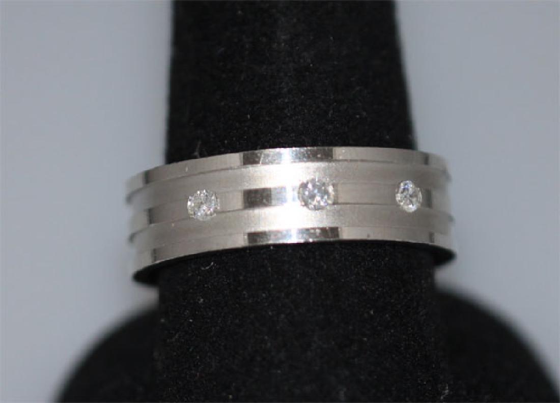 0.15 CTW DIAMOND RING .925 STERLING SILVER - 2