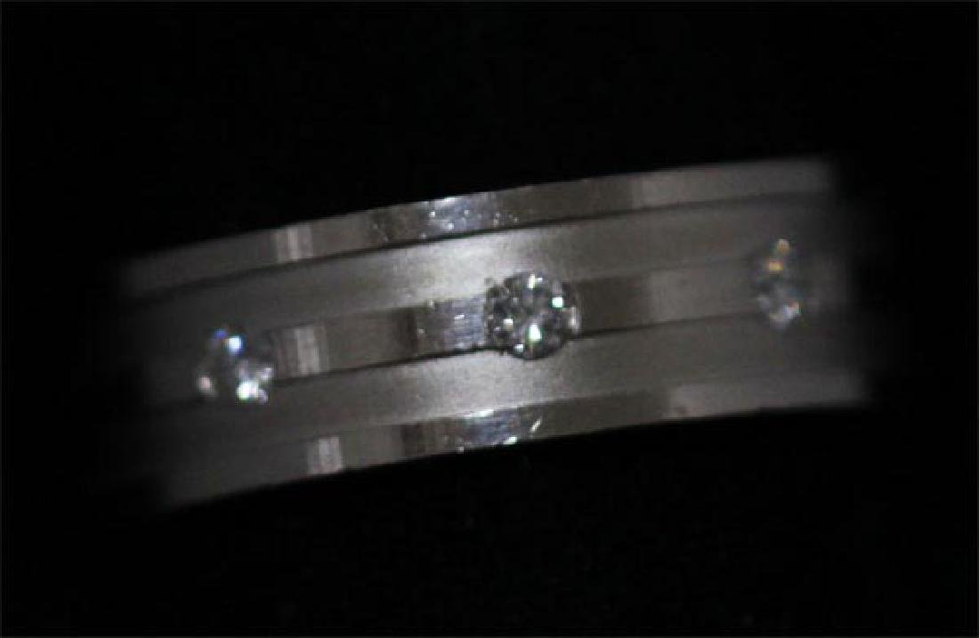 0.15 CTW DIAMOND RING .925 STERLING SILVER - 4