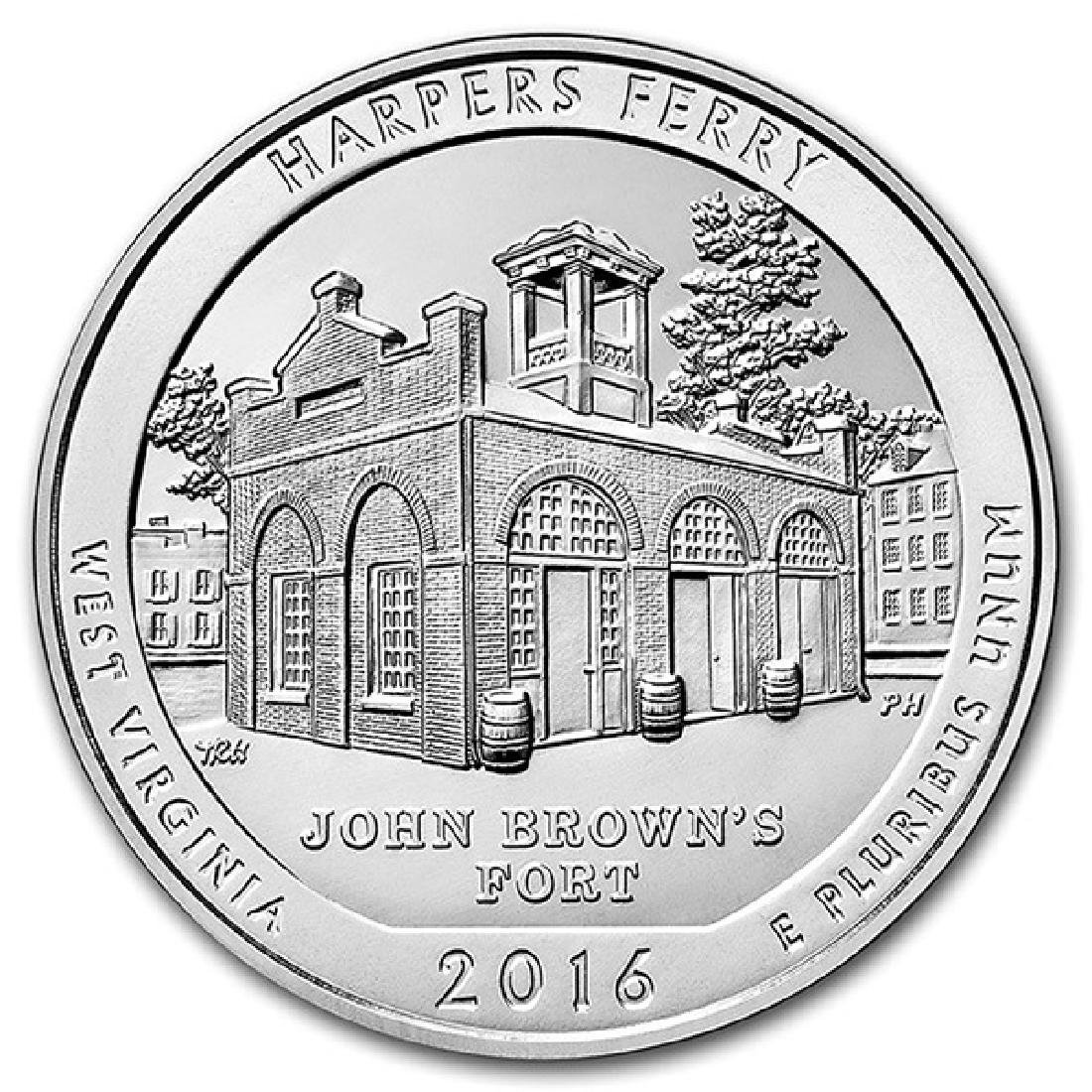 2016 Silver 5oz. Harpers Ferry ATB