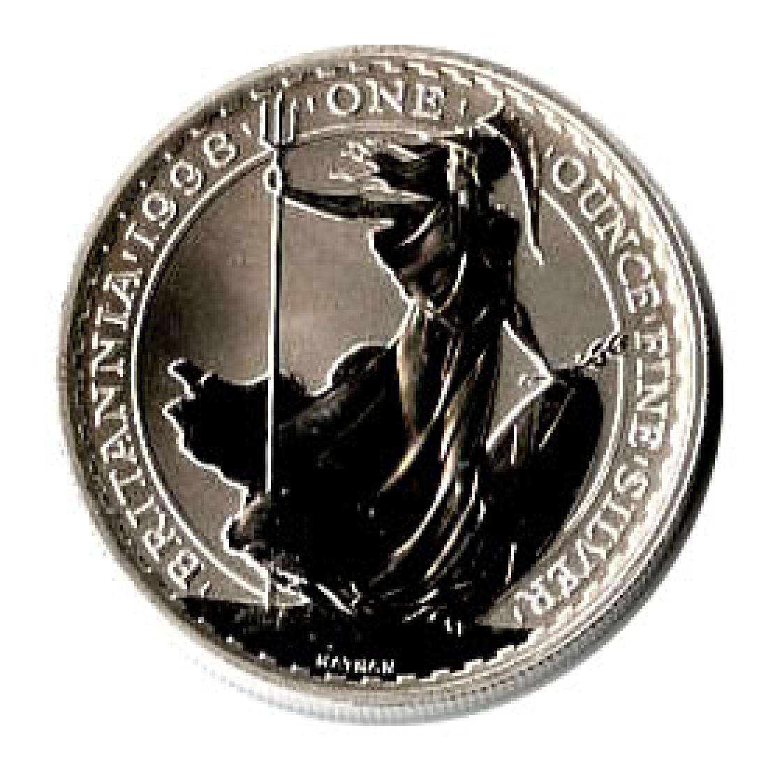 Uncirculated Silver Britannia 1 oz 1998