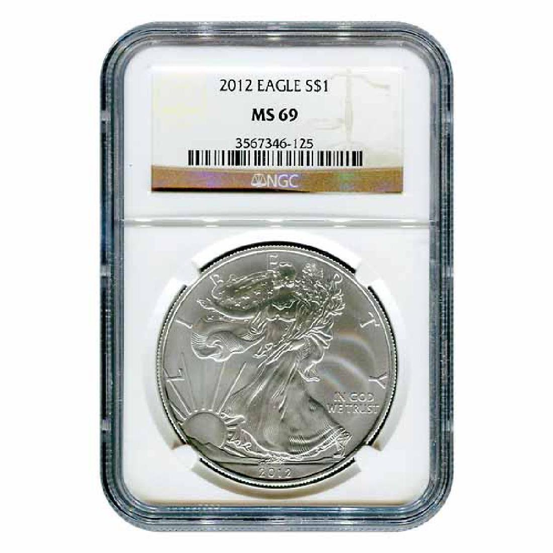 Certified Uncirculated Silver Eagle 2012 MS69 NGC