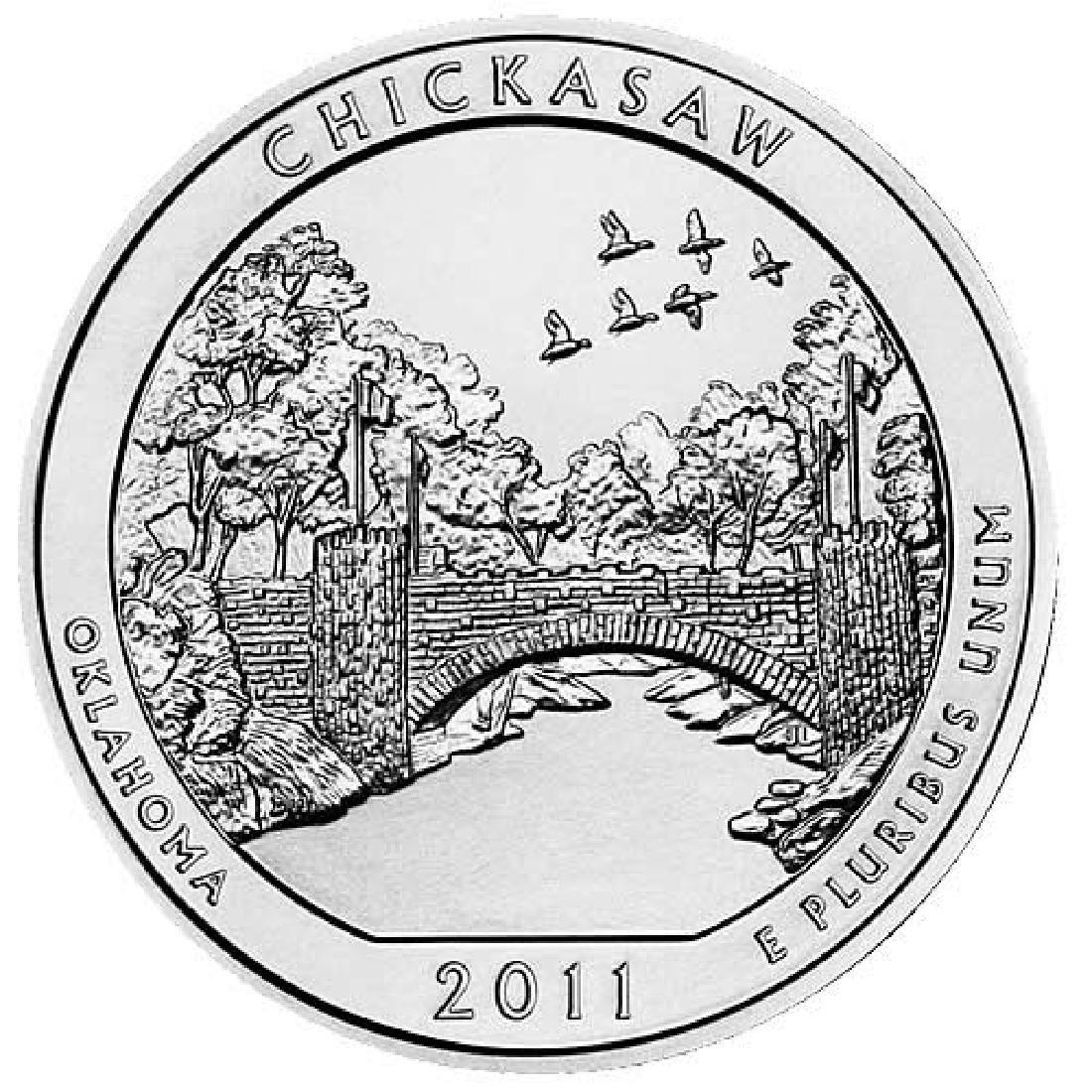 2011 Silver 5oz. Chickasaw ATB