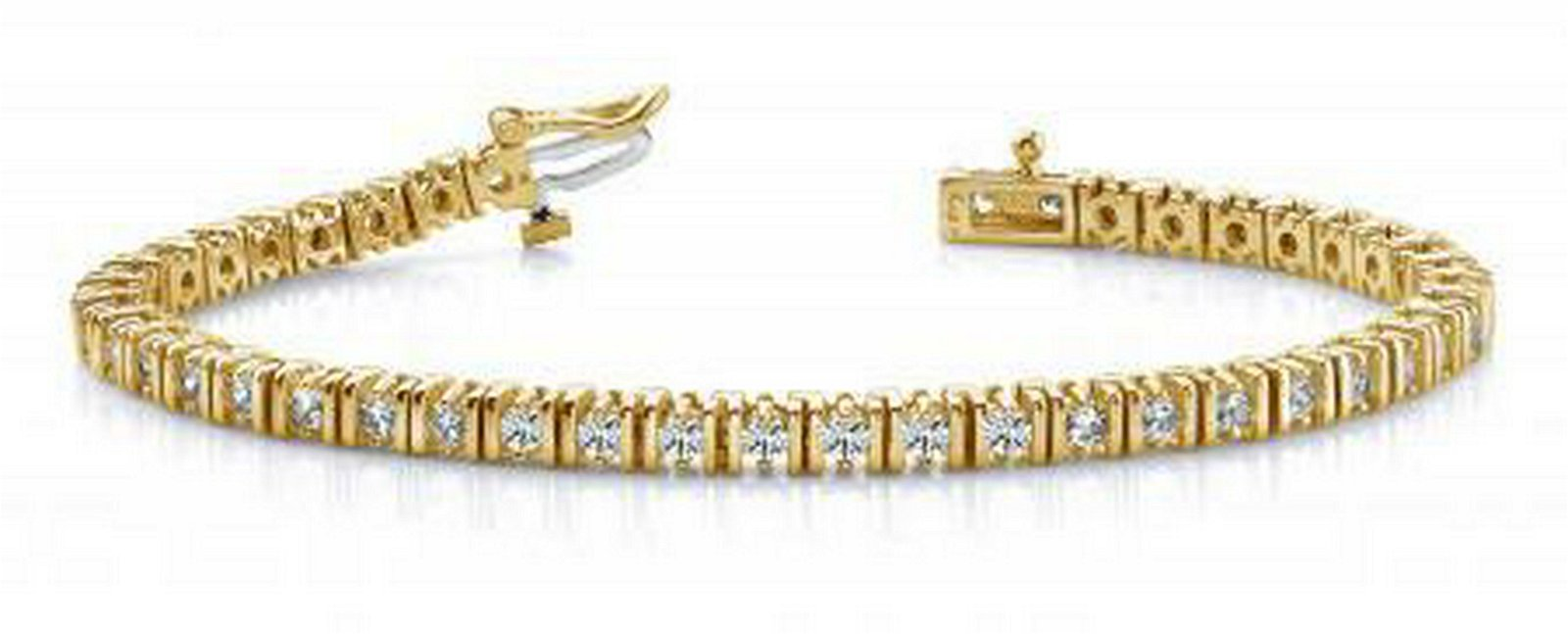 14KT YELLOW GOLD 2 CTW G-H VS2/SI1 DOUBLE LINK DIAMOND