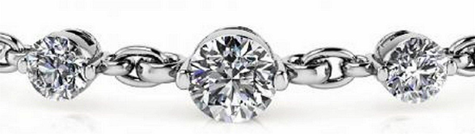 14K WHITE GOLD 5 CTW G-H I1/I2 DIAMOND AND CHAIN LINK B