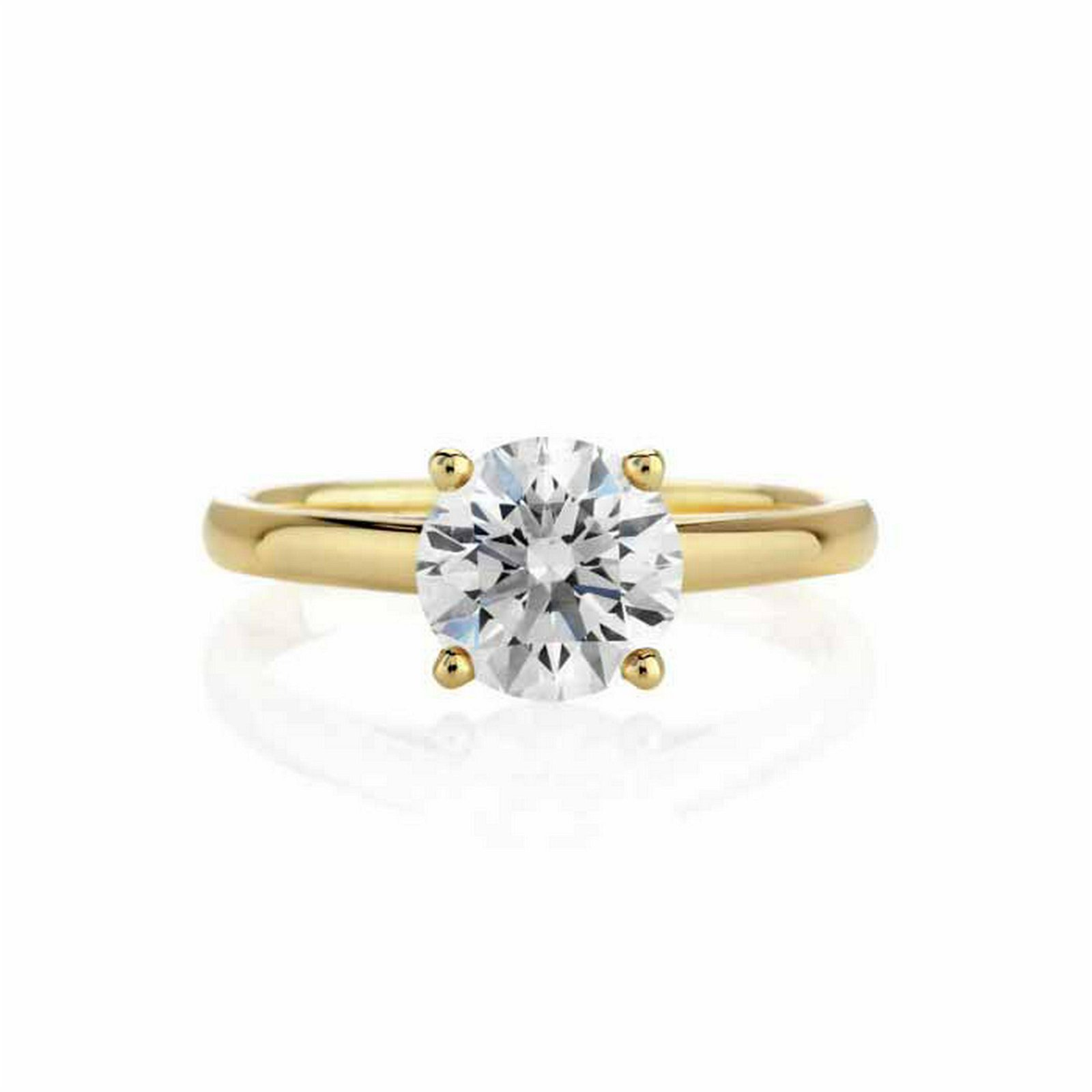 CERTIFIED 2 CTW D/VS1 ROUND DIAMOND SOLITAIRE RING IN 1