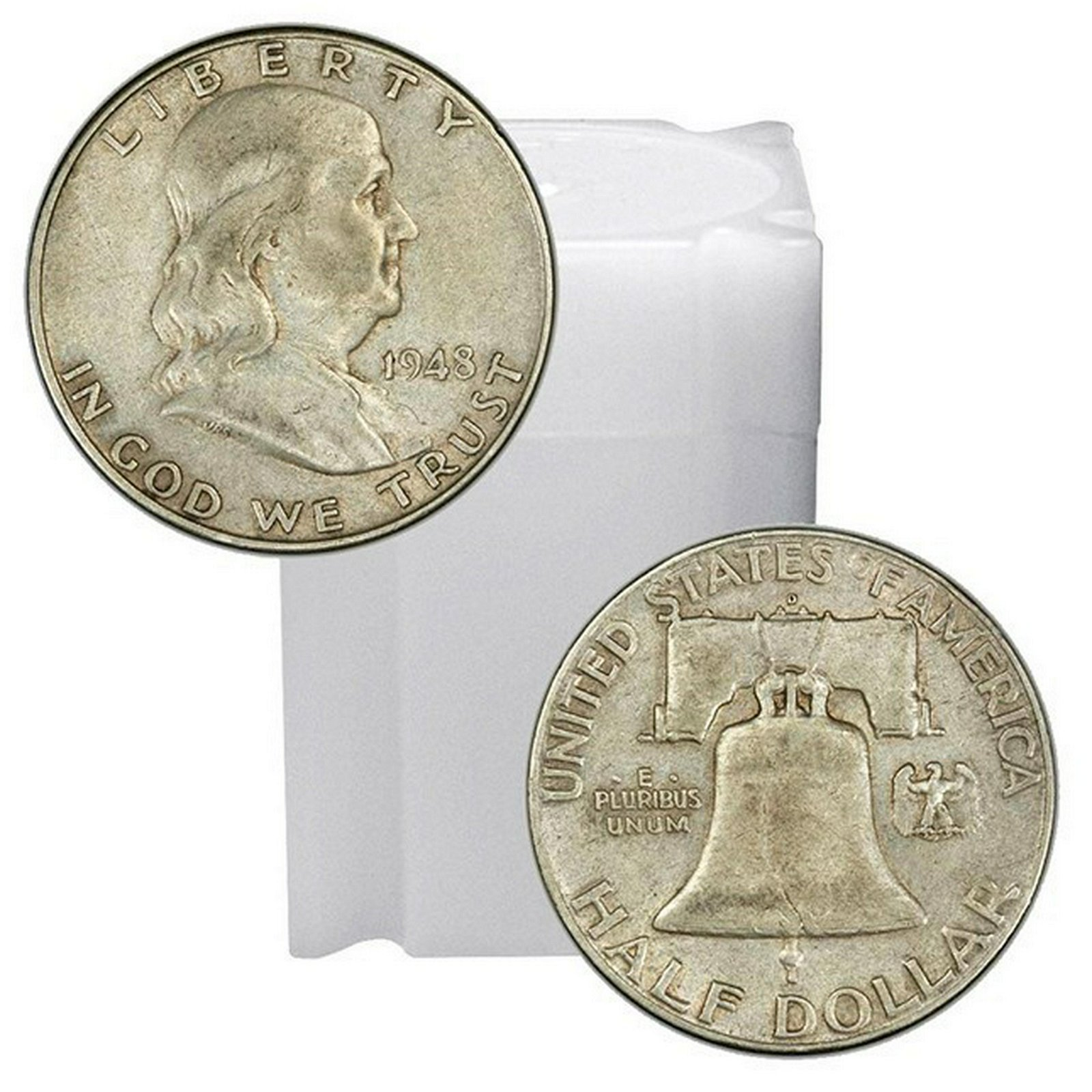 90% Silver Franklin Halves Roll (20pcs.)