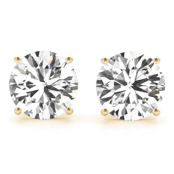 CERTIFIED 0.6 CTW ROUND D/SI1 DIAMOND SOLITAIRE EARRING