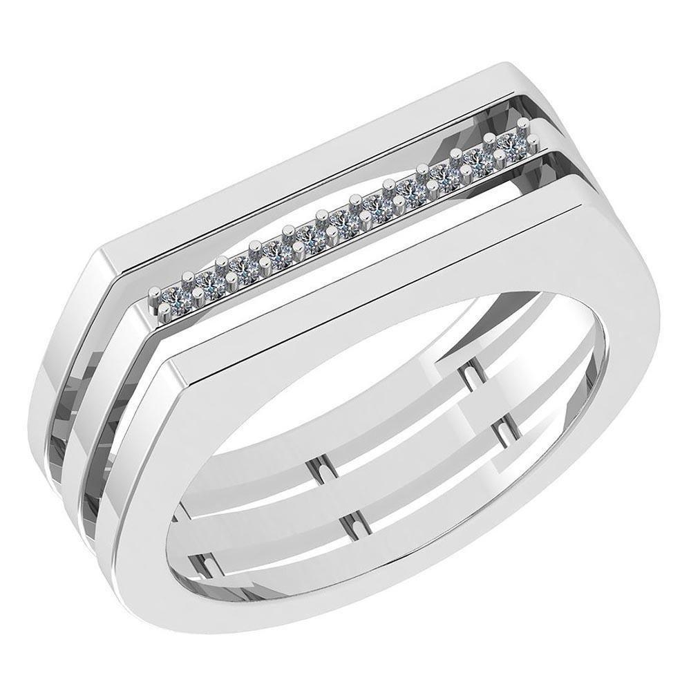 Certified 0.06 Ctw Diamond VS/SI1 Engagement 14K White