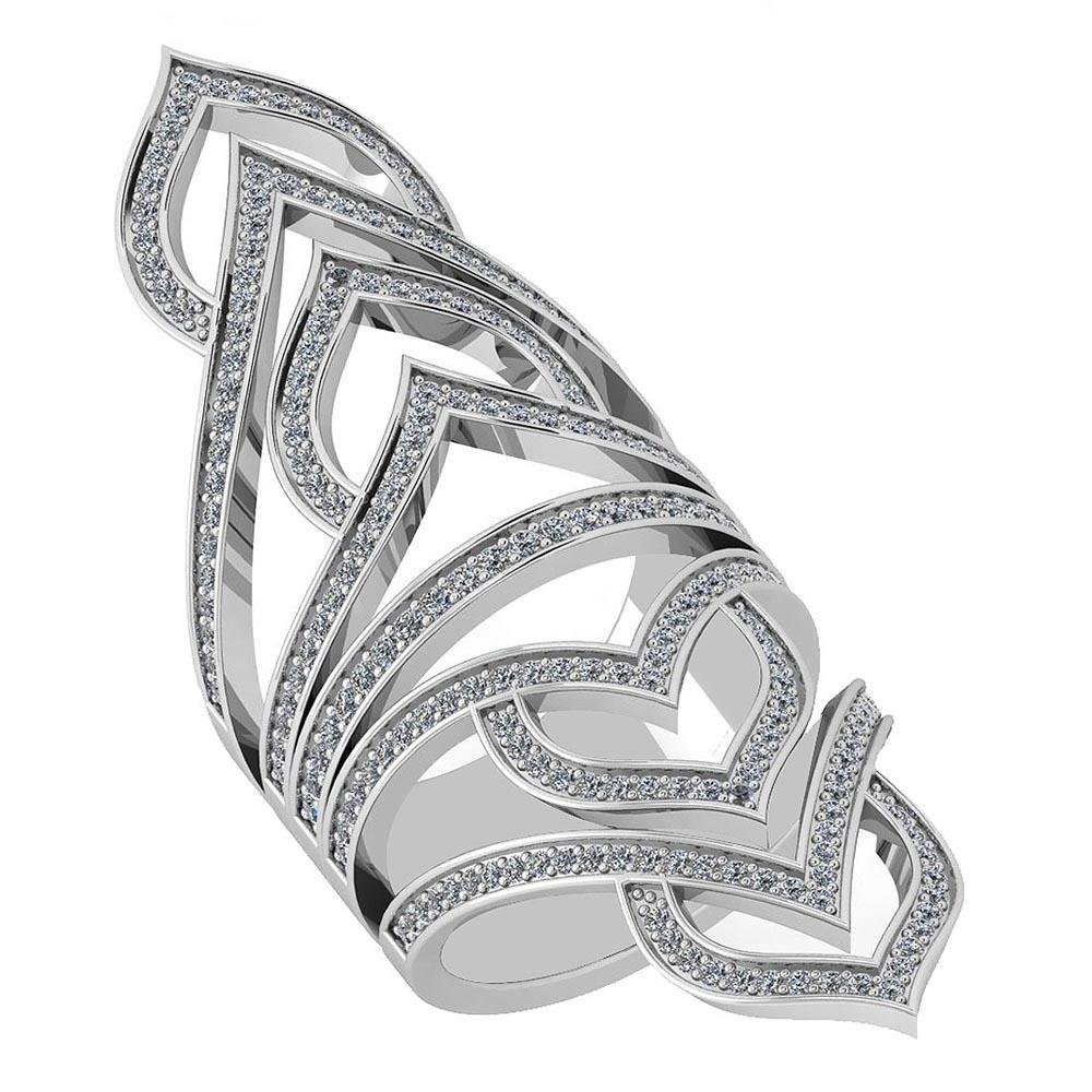 Certified 1.26 Ctw Diamond VS/SI1 18K White Gold Ring M