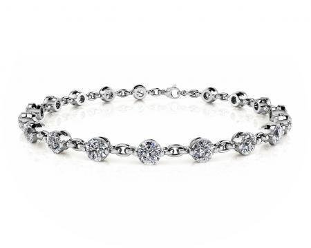 14K WHITE GOLD 4 CTW J-L SI1/SI2 DIAMOND AND CHAIN LINK