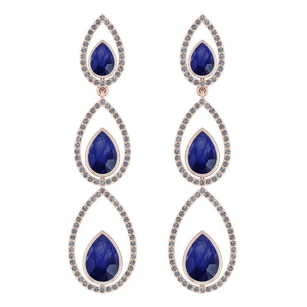 Certified 5.48 Ctw Blue Sapphire And Diamond VS/SI1 18K