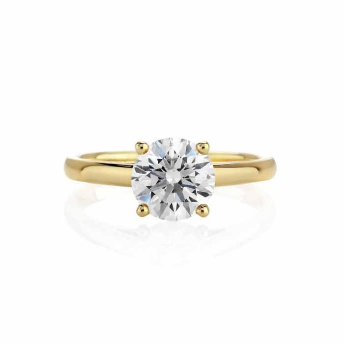CERTIFIED 0.71 CTW G/SI2 ROUND DIAMOND SOLITAIRE RING I