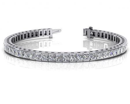 14K WHITE GOLD 4 CTW G-H SI2/SI3 CLASSIC DIAMOND BOX TE