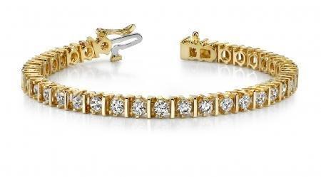 14K YELLOW GOLD 3 CTW G-H I1/I2 CLASSIC DIAMOND LINK PR