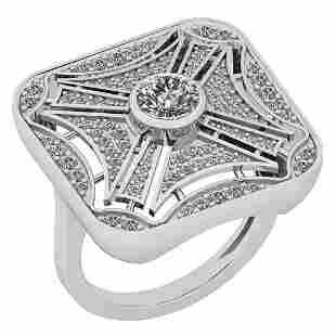 Certified 112 Ctw Diamond VSSI1 Platinum Band