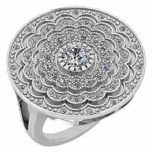 Certified 134 Ctw Diamond VSSI1 14K White Gold Ring