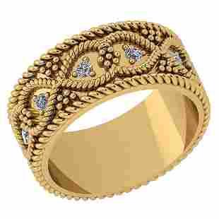 Certified 025 Ctw Diamond VSSI1 14K Yellow Gold Band