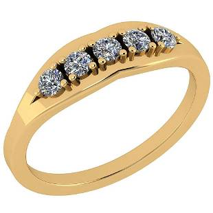 Certified 034 Ctw Diamond VSSI1 Engagement 14K Yellow