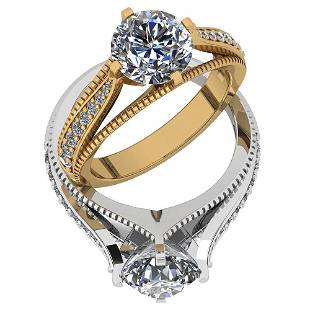 Certified 218 Ctw Diamond VSSI1 18K Yellow Gold Halo