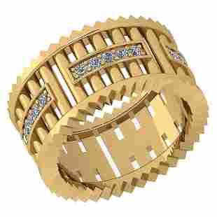 Certified 035 Ctw Diamond VSSI1 18K Yellow Gold Band