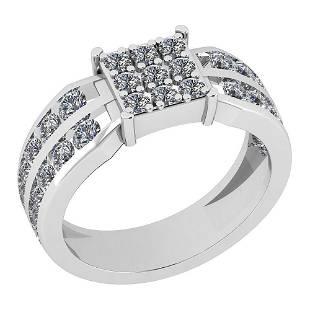 Certified 121 Ctw Diamond VSSI1 Engagement 18K White