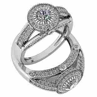 Certified 124 Ctw Diamond VS2SI1 Engagement 14K White