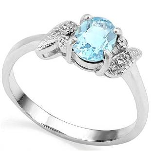 097 CT SKY BLUE TOPAZ AND ACCENT DIAMOND 003 CT 10KT