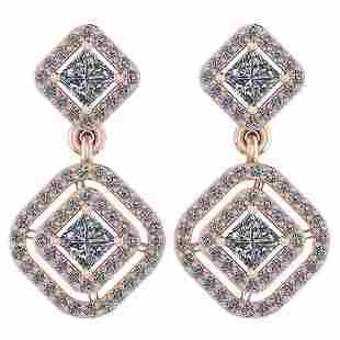 Certified 130 Ctw Diamond I1I2 14K Rose Gold Hanging