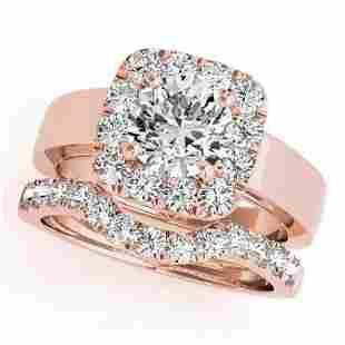 CERTIFIED 14KT ROSE GOLD 119 CTW GHVSSI1 DIAMOND HA