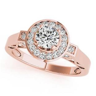 CERTIFIED 18K ROSE GOLD 097 CT GHVSSI1 DIAMOND HALO