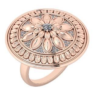 Certified 025 Ctw Diamond VSSI1 Flowers 14K Rose Gold
